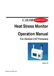 Heat Stress Monitor Instructions