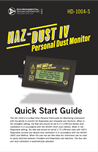 Haz-Dust IV Quick Start Guide