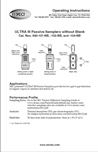 ULTRA III 690-101/103/104/106NB Passive Sampler Instructions