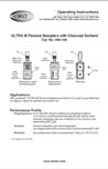 ULTRA III 690-105 Passive Sampler Instructions