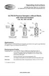 ULTRA III 690-105NB Passive Sampler Instructions