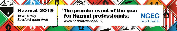SKC Ltd are exhibiting at the Hazmat 2019 Exhibition, Stratford-upon-Avon, 15-16th May