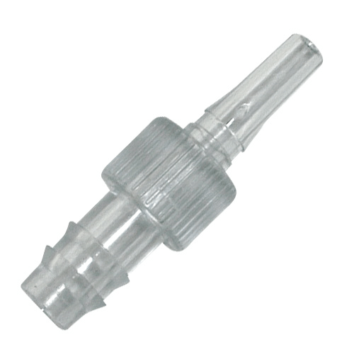 225-13-2 PVC Adaptors, Luer taper connects to 1/4 inch ID tubing