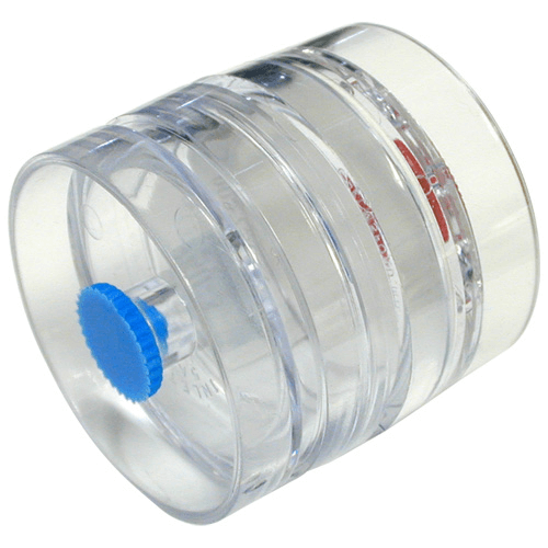 225-3100 Pre-loaded Mixed Cellulose Membrane (MCE) Filters in 3-piece clear plastic cassette, diameter 25mm, Pore size 0.8 µm