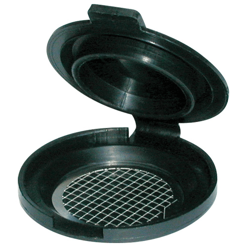 225-67-10 Filter transport case for 25 mm diameter filters, manufactured in conductive plastic