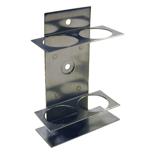 225-20-03 Double Impinger Holder adapted for AirChek TOUCH pump, suitable for glass impingers only, for 2 impingers, or 1 impinger and 1 trap. Manufactured in Stainless steel