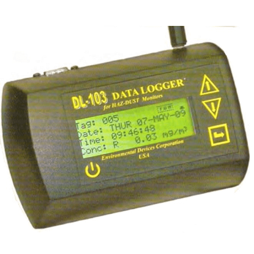 770-113 Data Logger for HAZ-DUST I, recording measurements and on-screen statistical display
