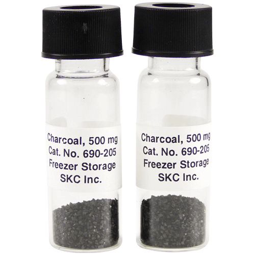 690-205 ULTRA Sorbent Vials Charcoal, 500 mg in each vial