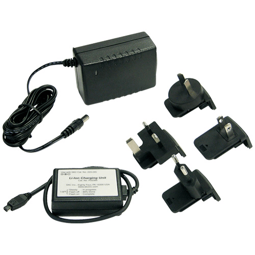 223-241 Single Charger 100-240 V with multiplug for UK, Europe, USA, Australia, New Zealand for AirChek XR5000 pump