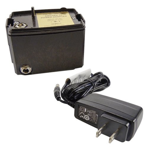 223-300C Battery Eliminator with UK plug. Provides mains power operation of the pump for extended sample periods.