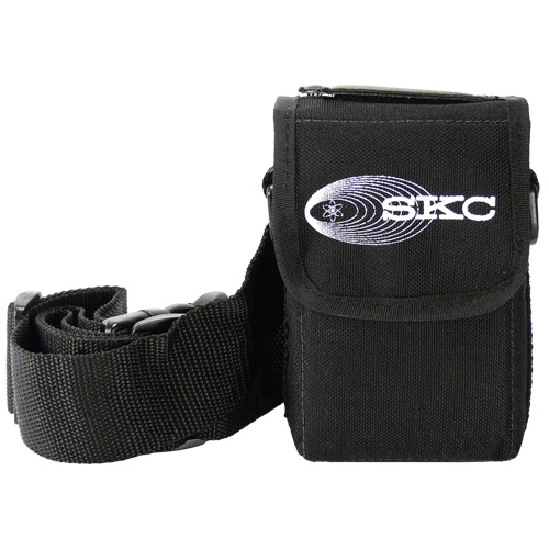 224-88 Black nylon pump pouch with adjustable waist belt and shoulder strap for AirChek 3000