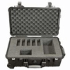 224-910 Pelican Deluxe Hard-Sided Five Pump Case which is watertight, airtight, dustproof and crushproof. It has wheels for easy transport and a retractable handle for Sidekick pump