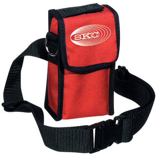 224-96A Red nylon pump pouch with adjustable waist belt and shoulder strap for Sidekick pump