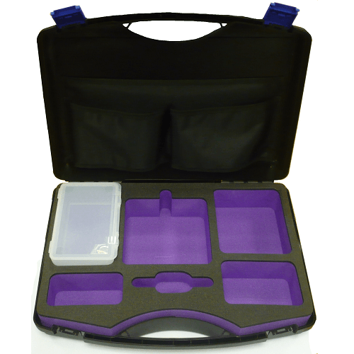 224-98 Single pump carry case with foam cutouts for charger and accessories for Universal pump