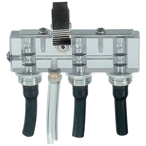 224-26-03 Triple adjustable low flow tube holder