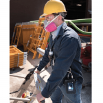 Worker wearing HAZ-DUST 7204