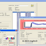 DustComm Pro Software provides graphing data